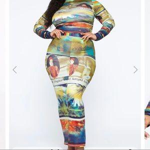 Read me maxi skirt set